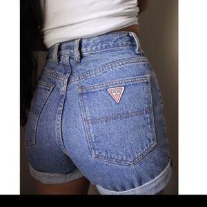 Vintage Guess mom jean shorts